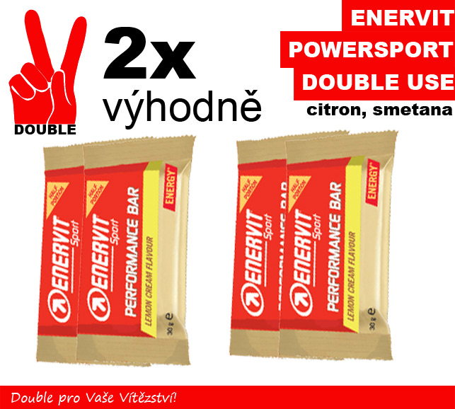 Enervit Power Sport Double Use -2 x citron/smetana
