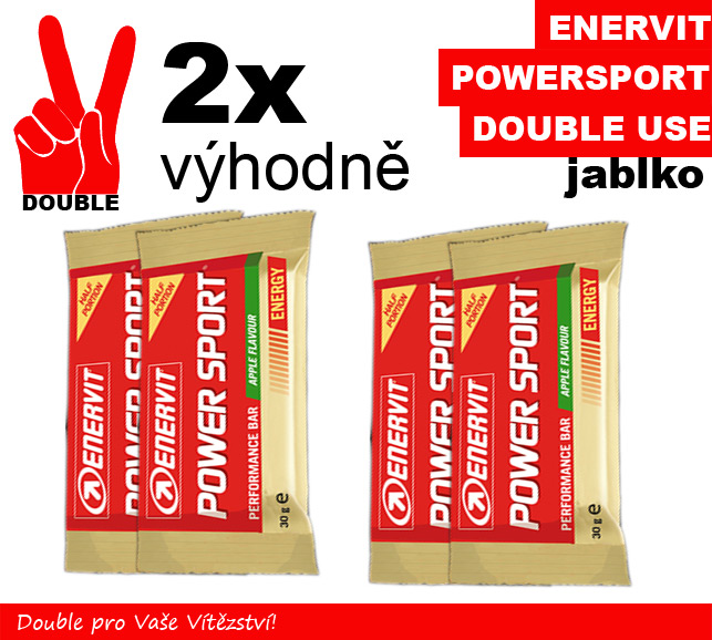Enervit Power Sport Double Use - 2 x  jablko