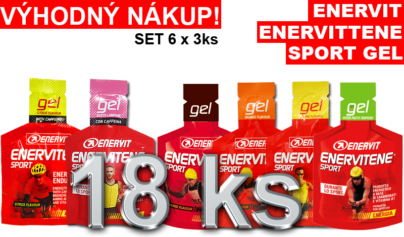 Enervitene Sport gel set 6 x 3 ks