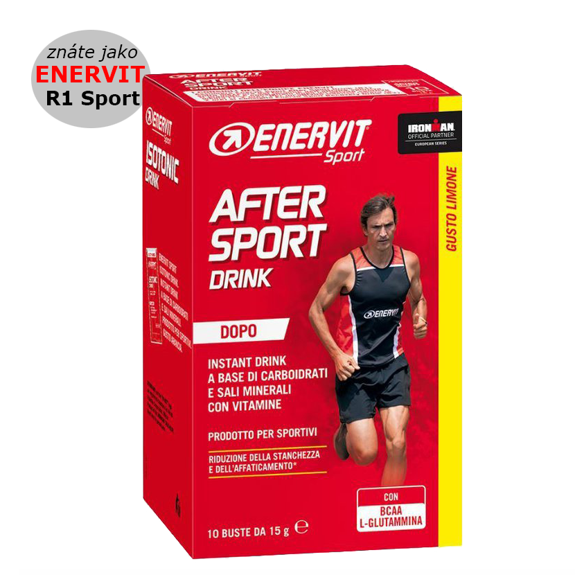 Enervit After Sport - citron, 10 sáčků á 15 g